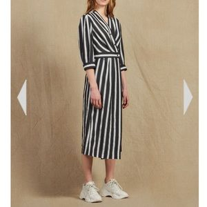 Sandro striped midi dress